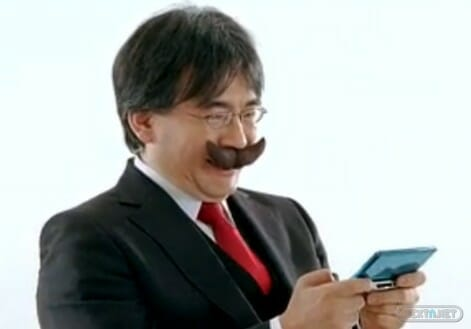 Iwata mostacho Mario