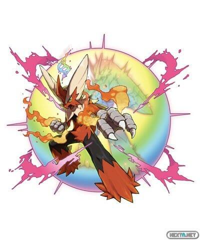 1308-09 Pokémon X-Y Mega-Blaziken Artwork 02