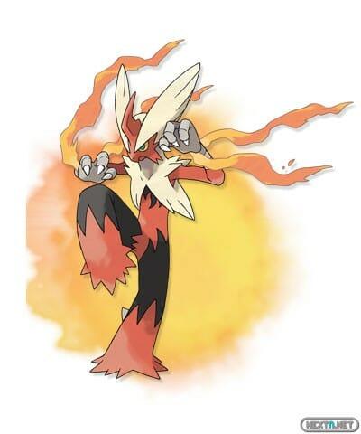 1308-09 Pokémon X-Y Mega-Blaziken artwork