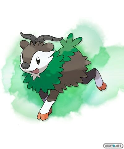 1308-09 Pokémon X-Y Skiddo artwork