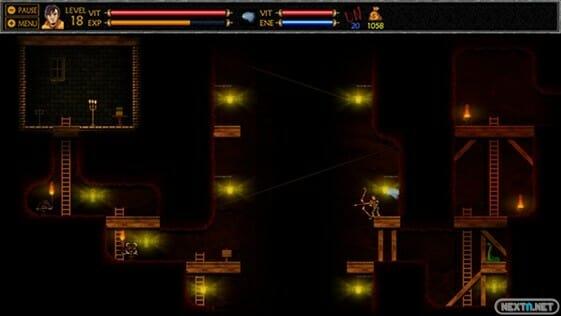 Aquí vemos los efectos de luz como han sido recreados, sin efecto pixel