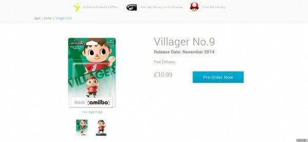 1409-04 Amiibo Aldeano Fecha y Precio Wii U 3DS 1