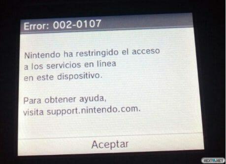 1601-25 Nintendo se pone seria con el error 002-0107 baneando las 3DS piratas 02