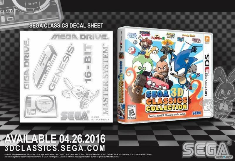 SEGA 3D Classics Collection pegatinas
