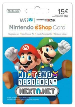 Nintendo Yesterday tarjeta 15 euros concurso