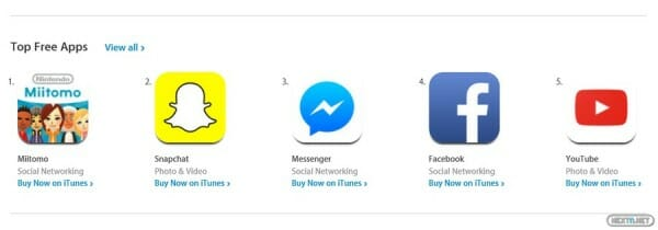 Miitomo Top Free Apps App Store iTunes