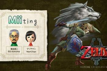 Zelda Twilight Princess HD Entrevista Miiverse Aonuma