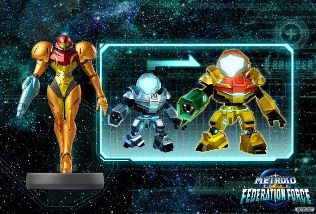 Metroid Prime Federation Force amiibo Samus