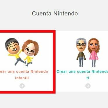 Tutorial Cuenta Nintendo menores