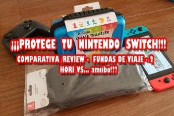 Comparativa fundas viaje Nintendo Switch Hori amiibo