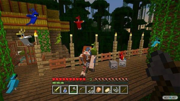 Minecraft Actualización junio 2017 loro