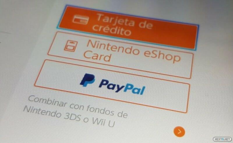 pago PayPal eShop Nintendo Switch