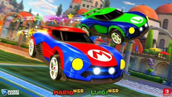 Rocket League coche Mario NSR Luigi NSR