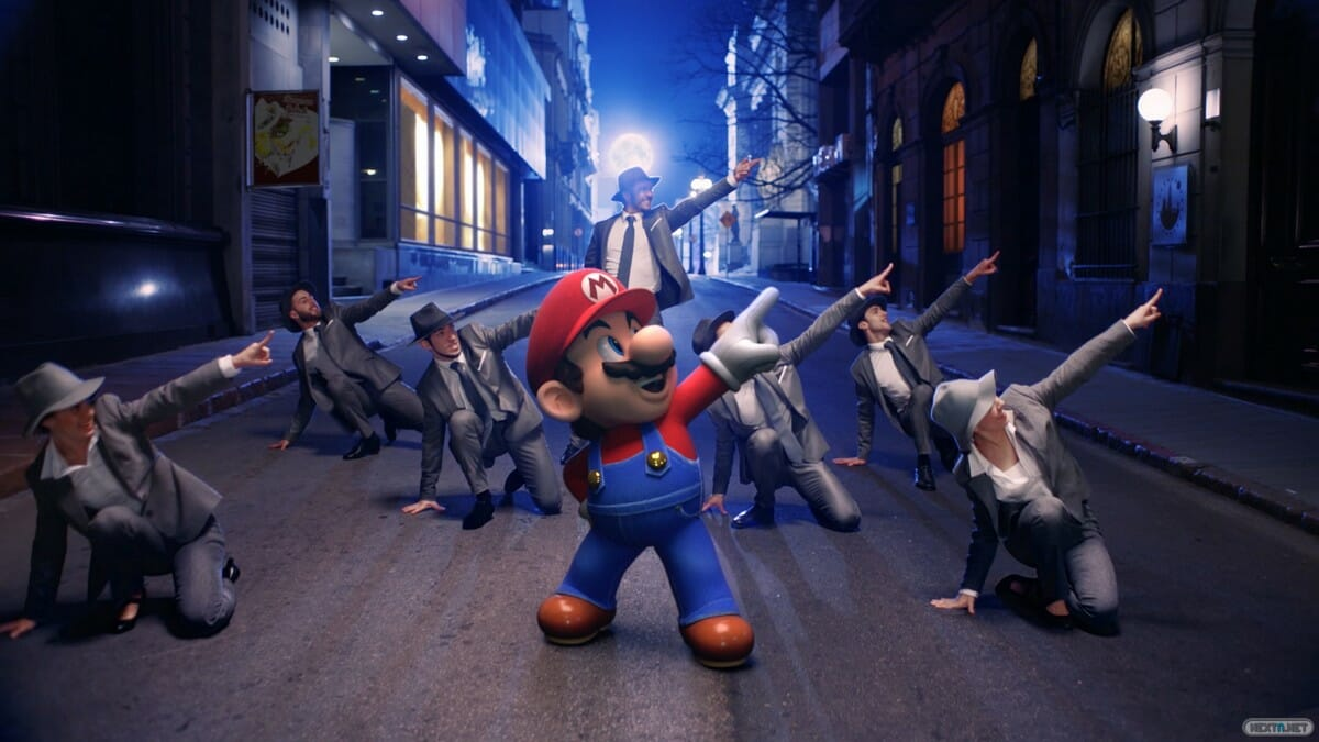 Super Mario Odyssey videoclip real
