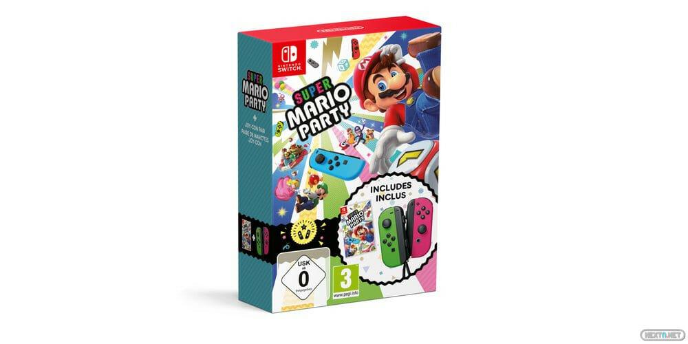 Super Mario Party pack edición limitada Joy-Con