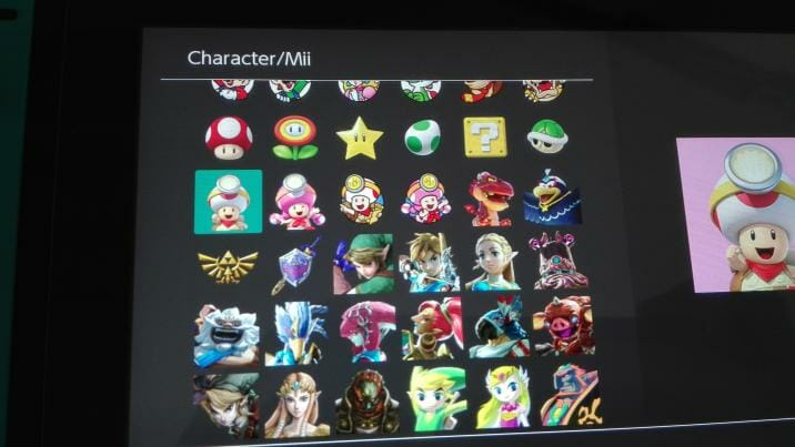 Nintendo Switch firmware 6.0.0 iconos Toad