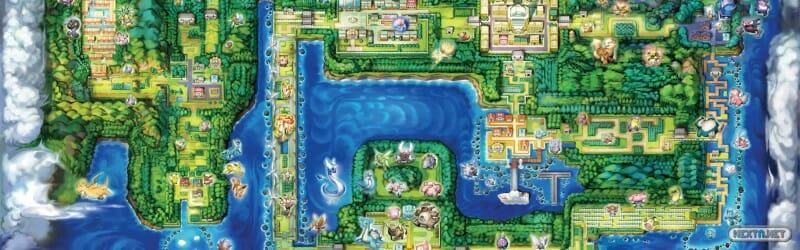 Pokémon GO Mapa Kanto