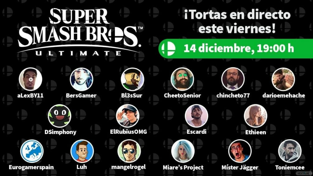Lista de Youtubers del Super Smash Bros. Ultimate Invitational