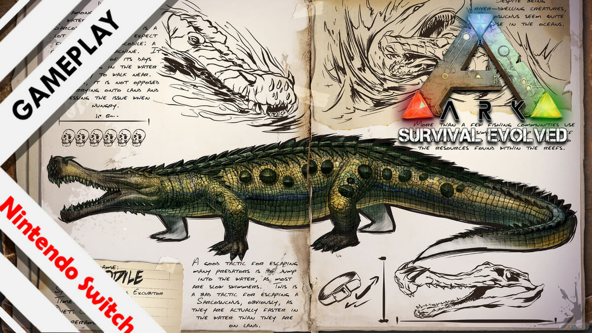 ARK Survival Evolved gameplay Switch Sarco Sarcosuchus 01
