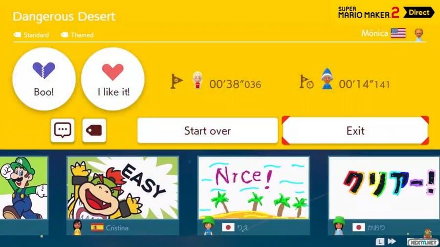 Super Mario Maker 2 comentarios