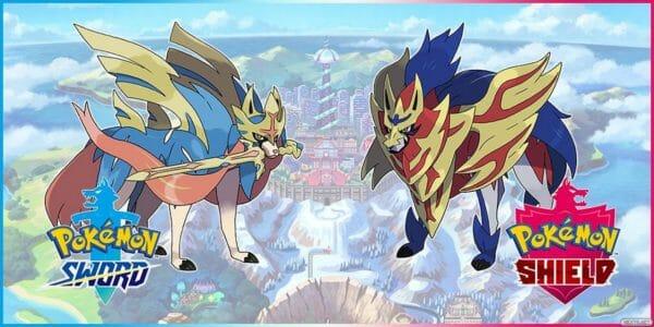 Legendarios Shiny Pokémon espada escudo