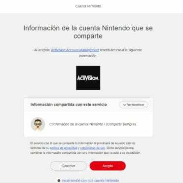 Call of Duty web Cuenta Nintendo Switch