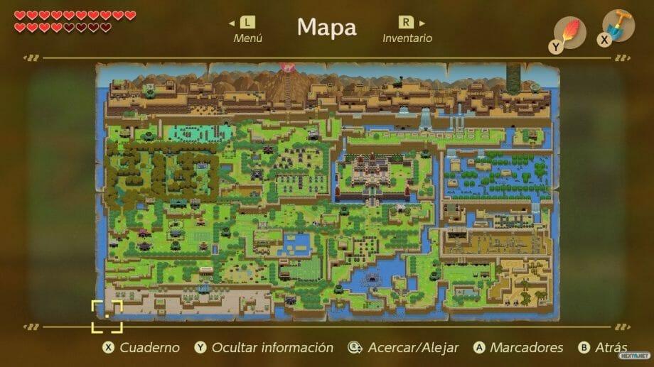 Link´s Awakening Mapa