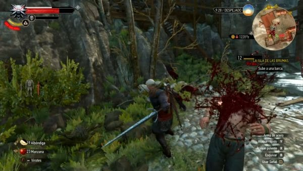 Análisis The Witcher Switch gore