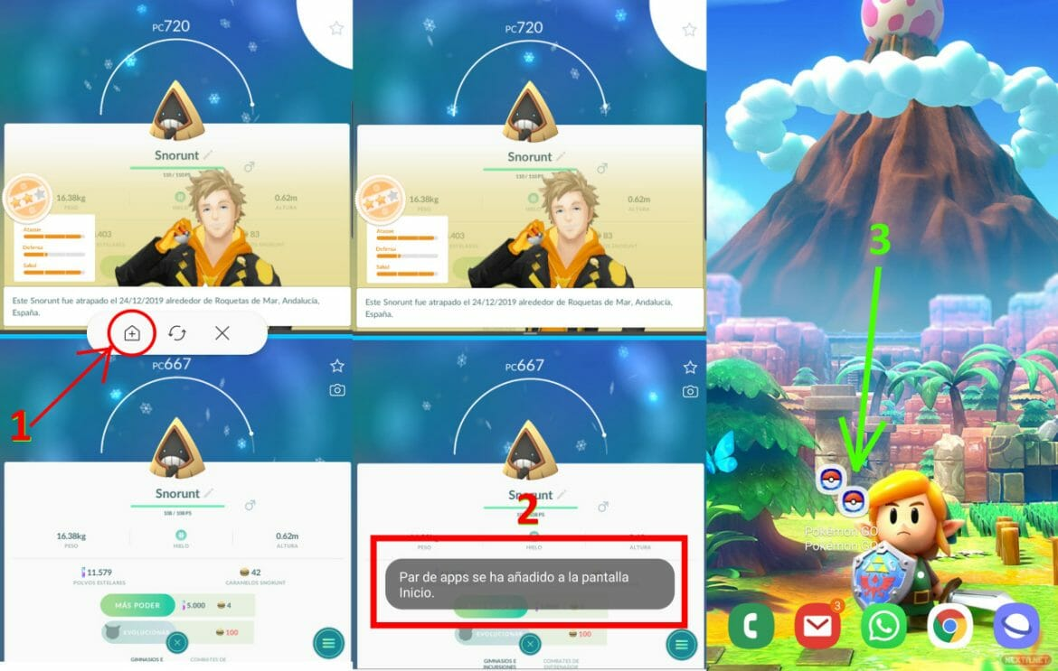 Pokémon GO tutorial Multi-Resume crear par de apps