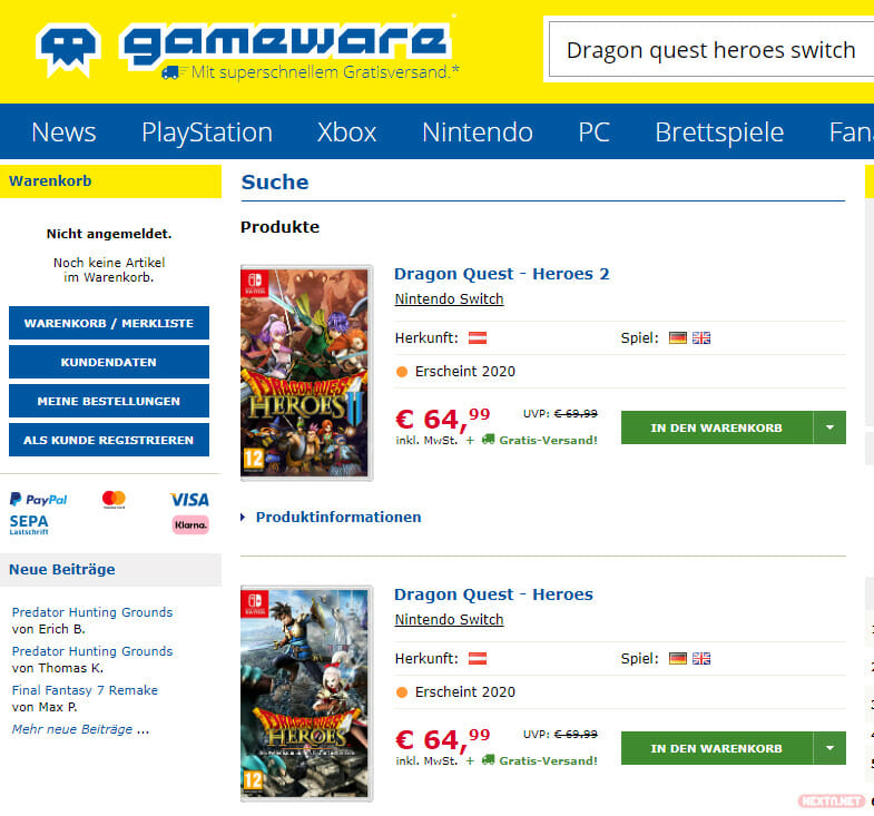 Dragon Quest Heroes Gameware