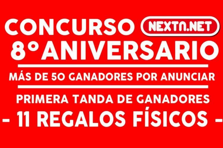 Concurso 8 Aniversario NextN - ganadores físicos