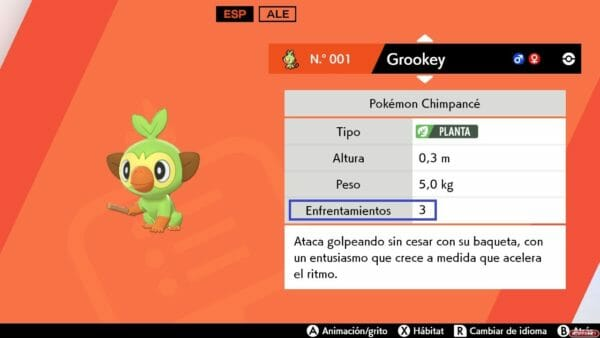 Cadena de combates Pokemon Shiny espada escudo