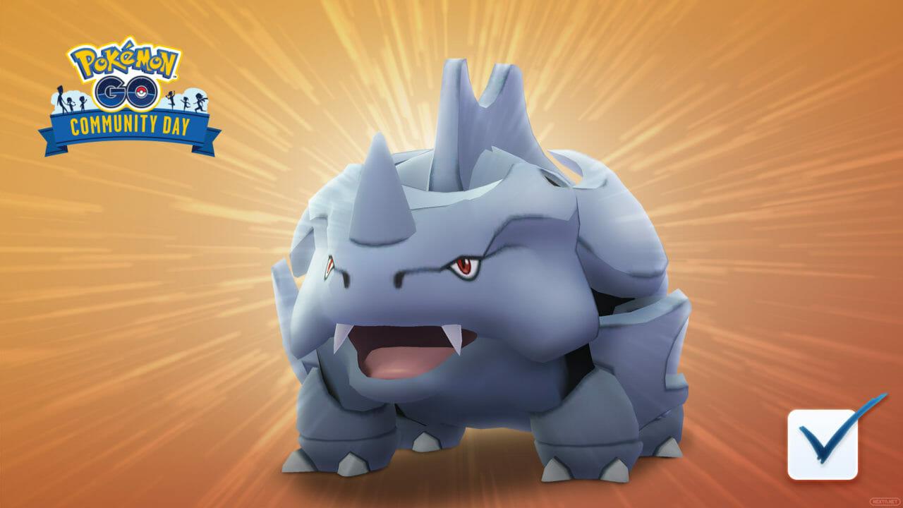 Pokémon GO Rhyhorn Día de la Comunidad
