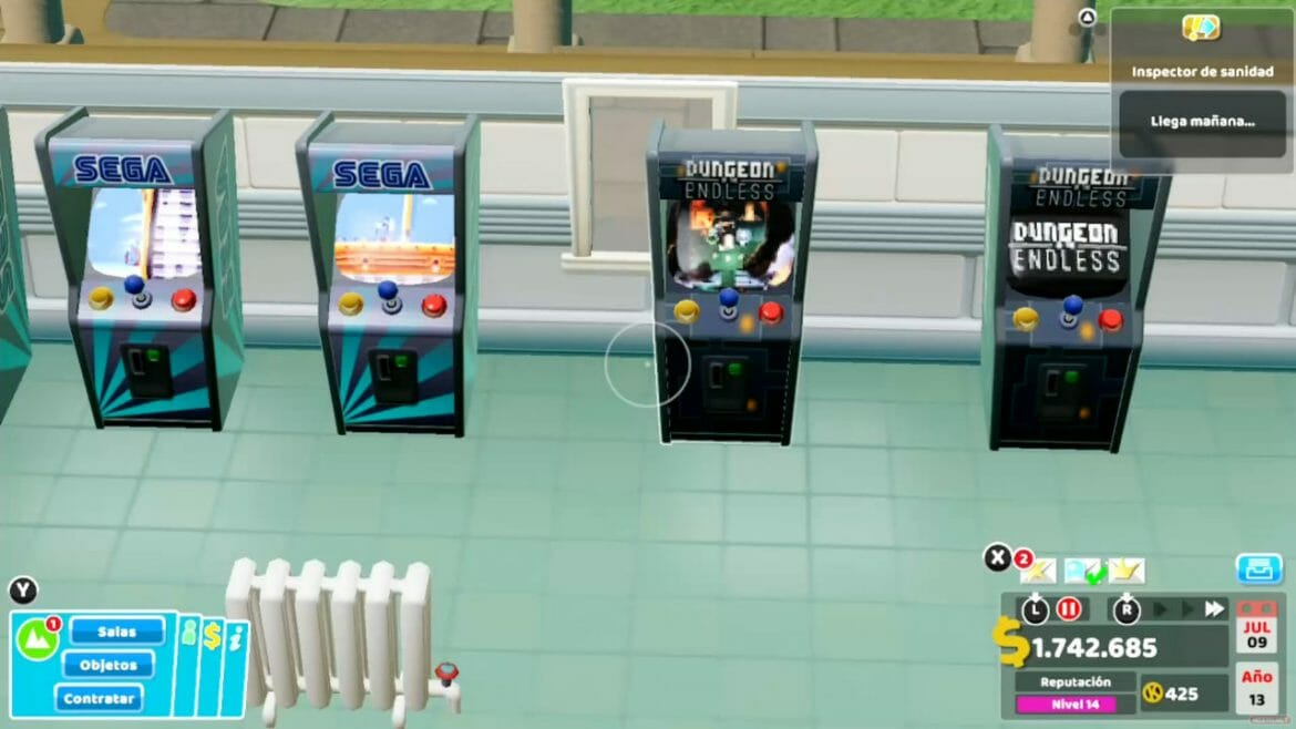 Análisis Two Point Hospital Switch 10