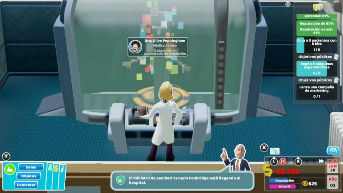 Análisis Two Point Hospital Switch