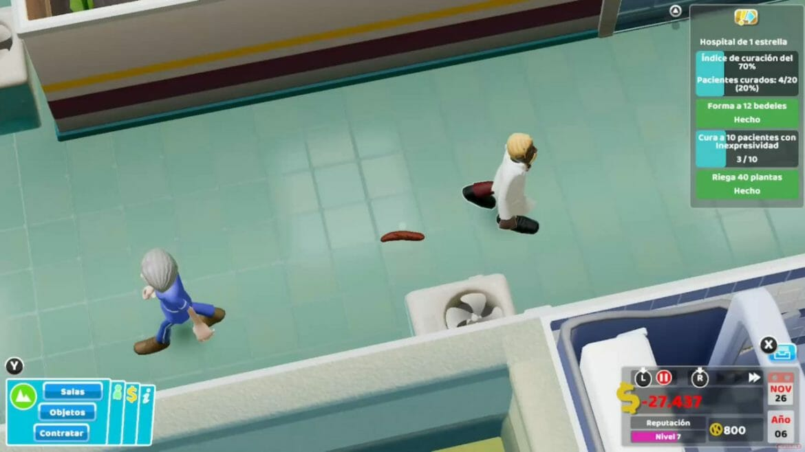 Análisis Two Point Hospital Switch 32