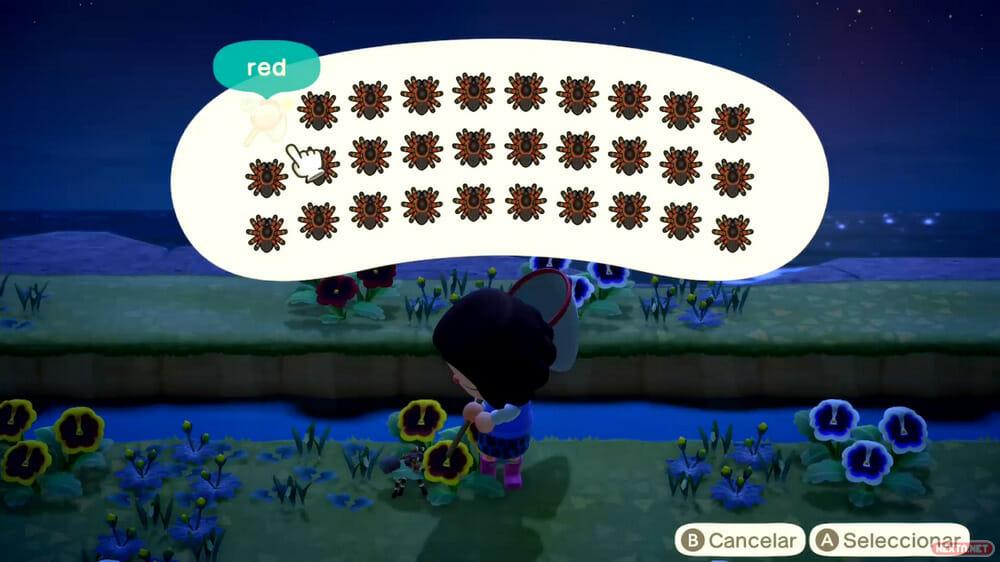 Guía Animal Crossing New Horizons búnker tarántula truco bayas