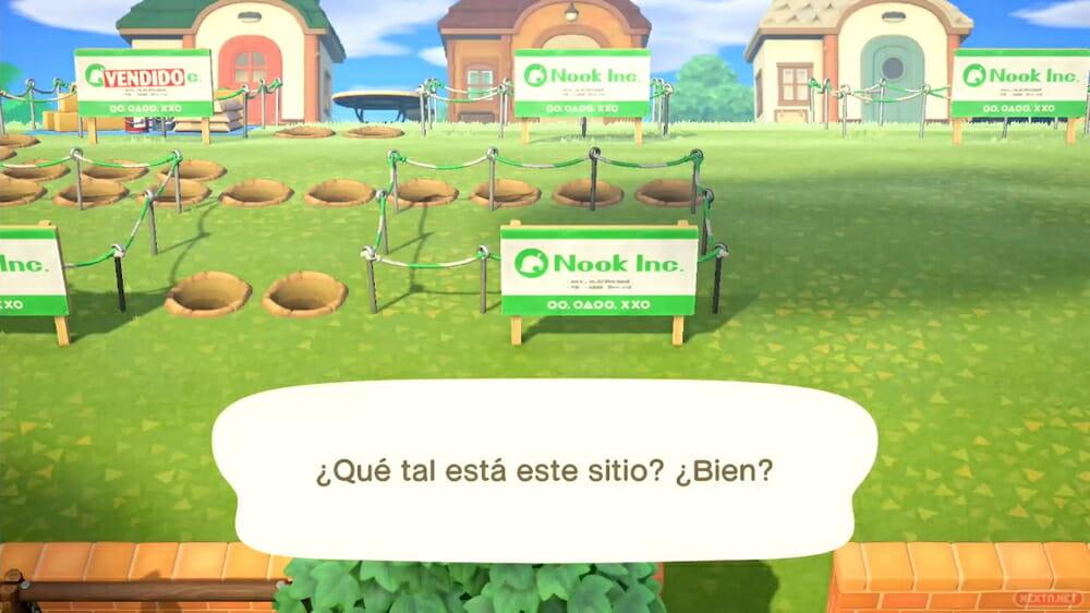Guía Animal Crossing New Horizons emplazar casas y edificios 07