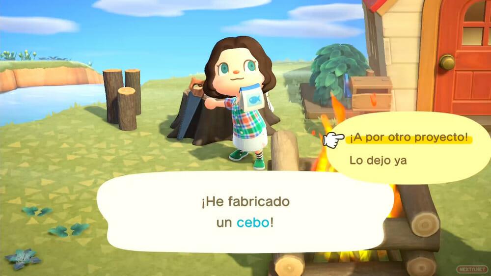 Guía Animal Crossing New Horizons fabricar cebo