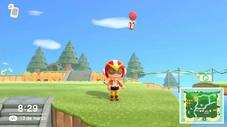 Guía Animal Crossing New Horizons globo regalo