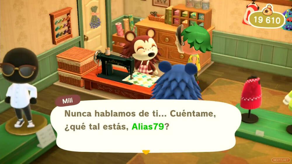 Guía Animal Crossing New Horizons habla con Mili