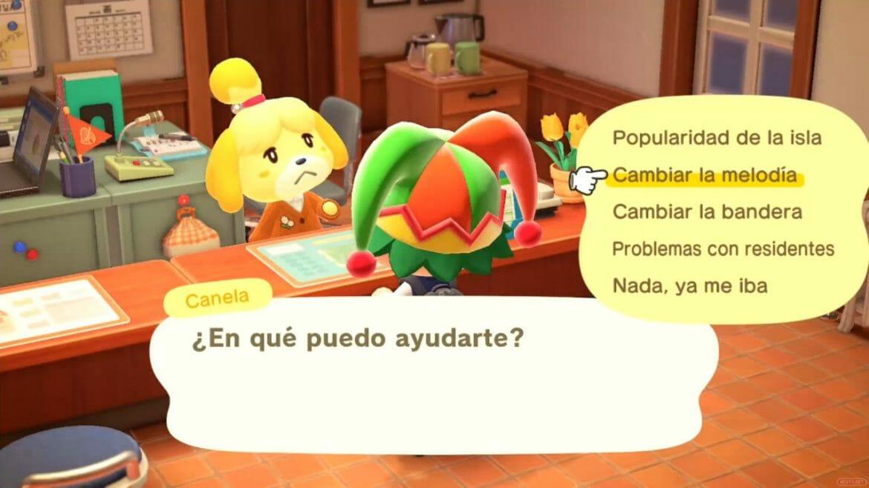 Guía Animal Crossing New Horizons melodía isla bandera