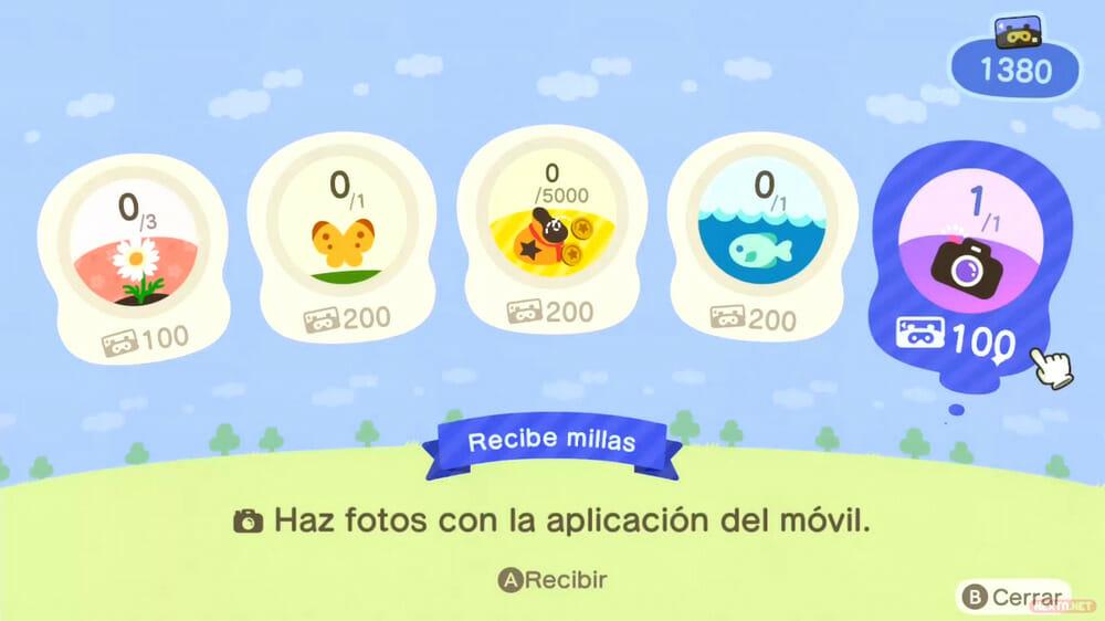 Guía Animal Crossing New Horizons millas plus