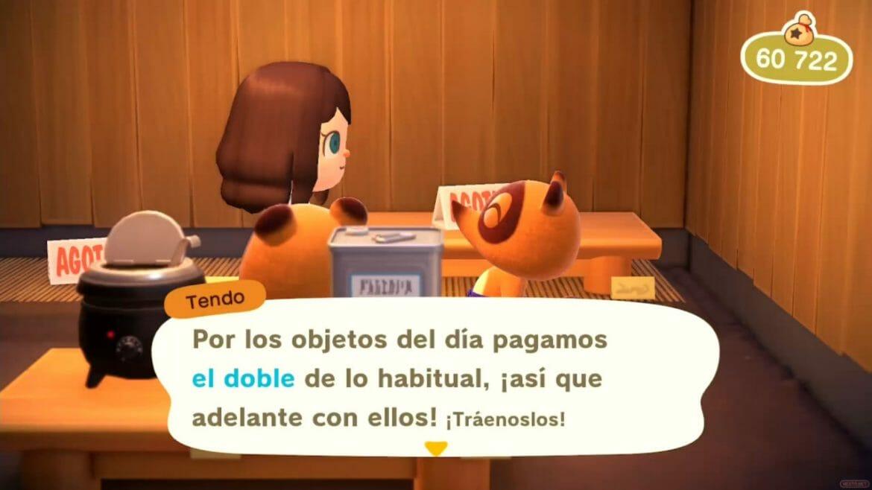 Guía Animal Crossing New Horizons objeto cotizado del día