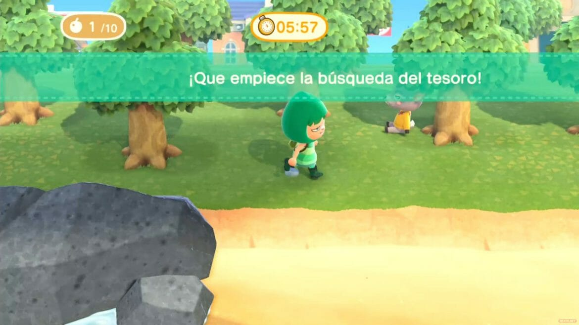 Guía Animal Crossing New Horizons busqueda tesoro