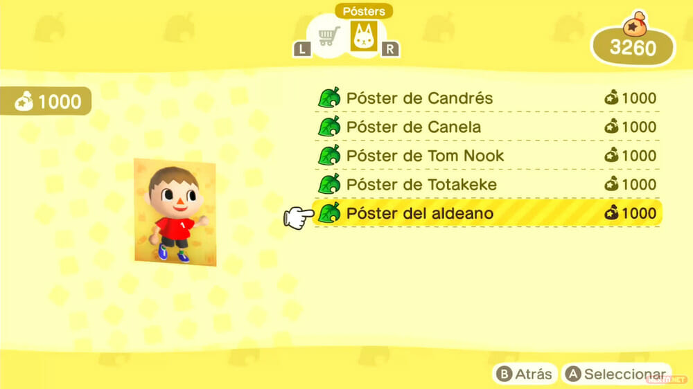Guía Animal Crossing New Horizons pósters amiibo