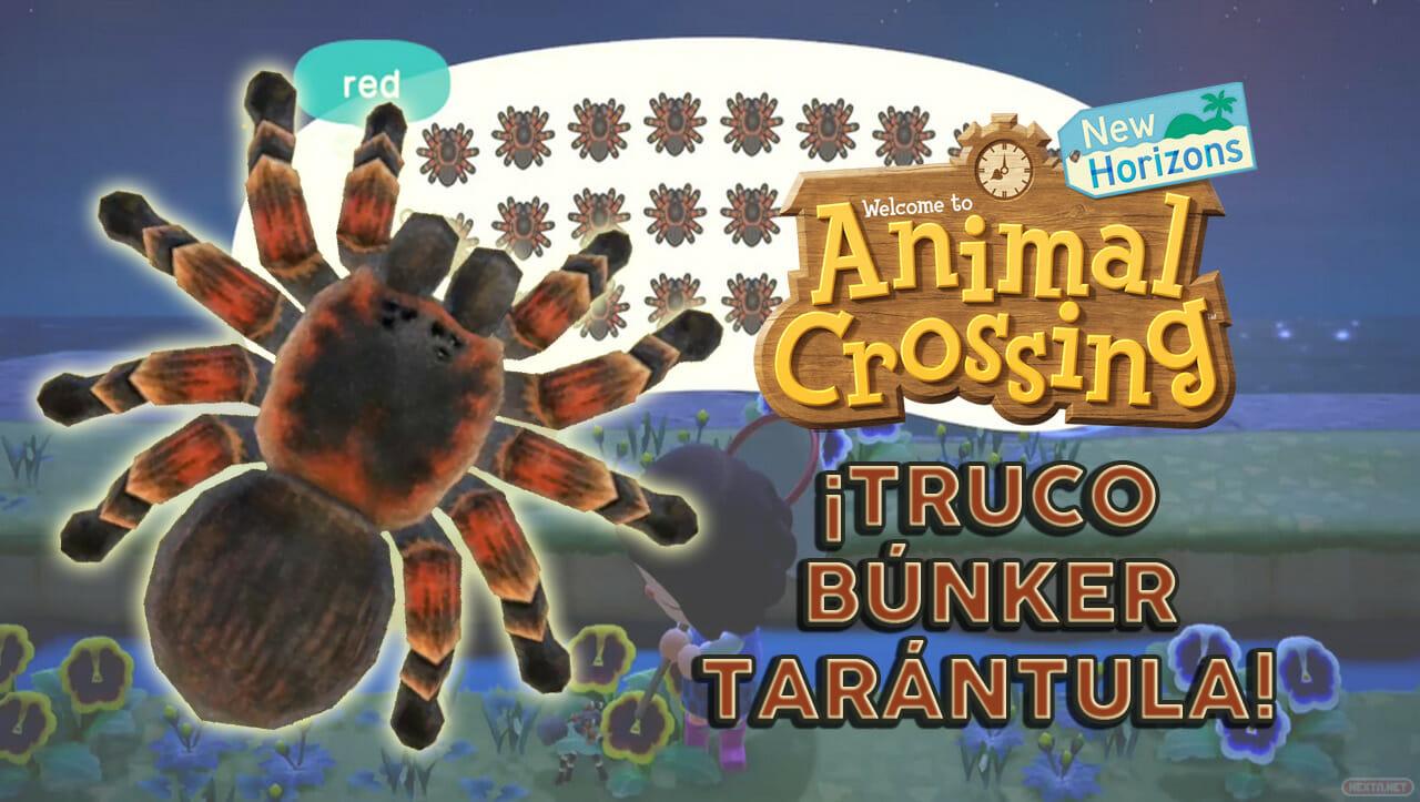 Truco Búnker Tarántula Animal Crossin New Horizons