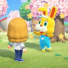 Animal Crossing New Horizons Caza del huevo Coti Conejal