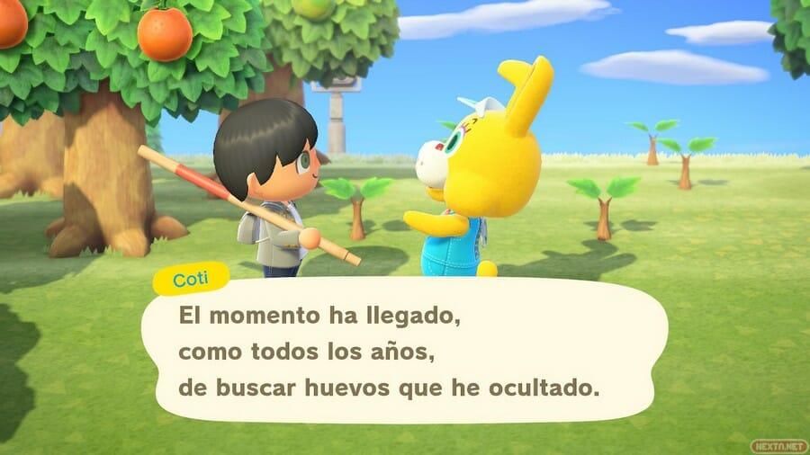 Animal Crossing Caza del Huevo