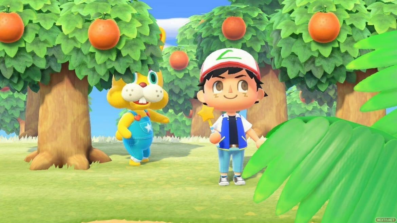 Animal Crossing: New Horizons Coti conejal caza del huevo Ash Ketchump